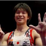 内村航平が世界体操で金メダルの6連覇!嫁や子供や母親も応援