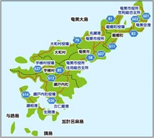 奄美大島地図