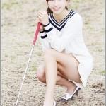 美人キャディの藤田美里がゴルフの実力を発揮!可愛い美脚画像有り